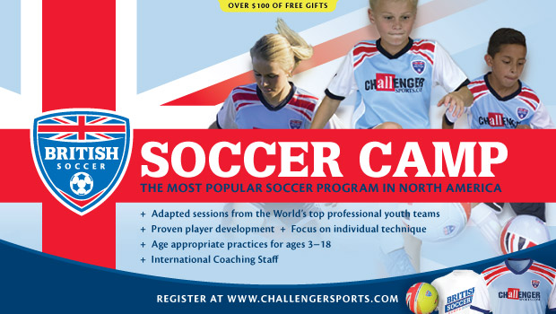 British Soccer Camp– The most popular soccer program in North America. Sign up now!